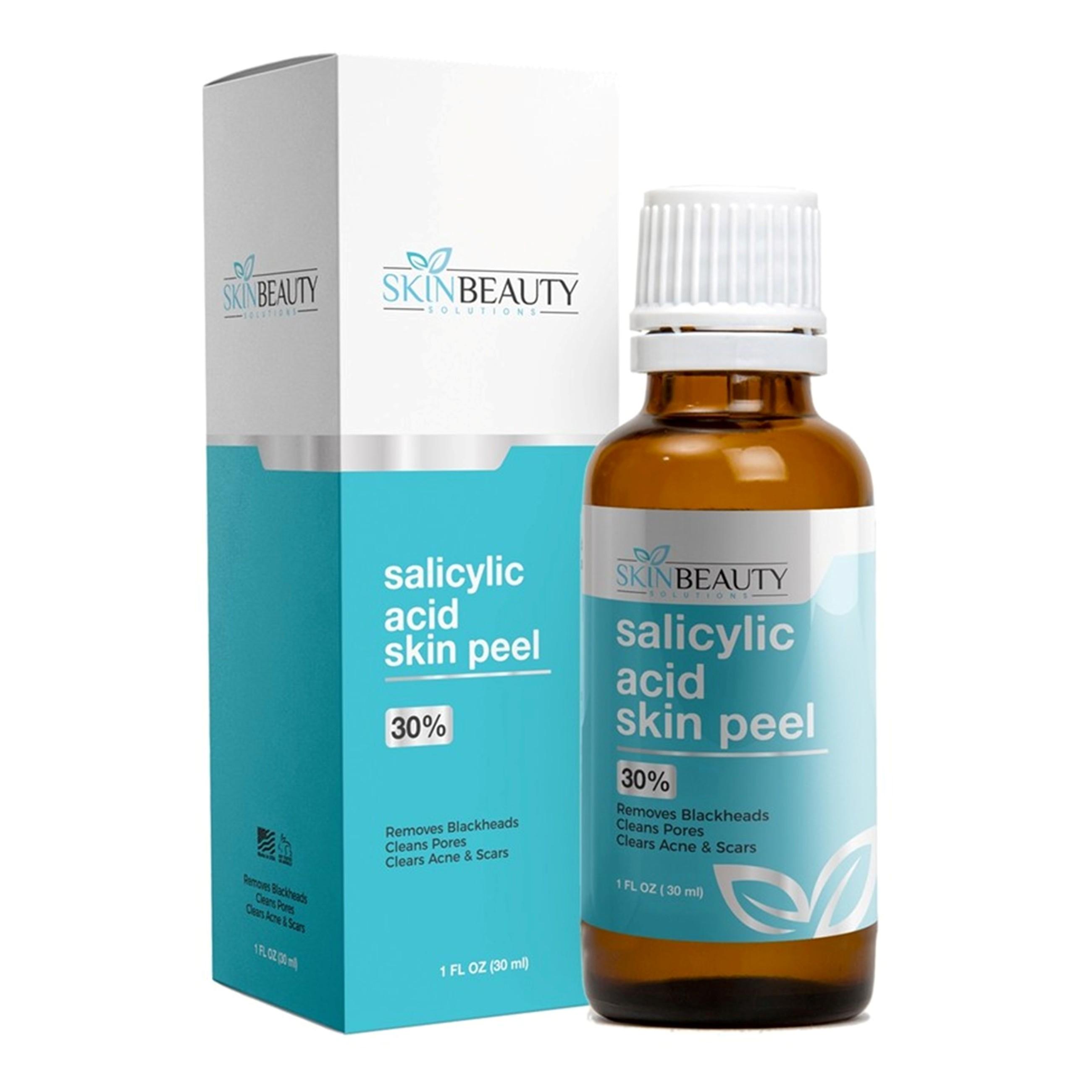 SALICYLIC ACID Skin Chemical Peel 30% | Natural Beta Hydroxy Acid (BHA) For  Oily Skin | Treats Acne, Clogged Pores, Blackheads, Seborrheic Keratosis,