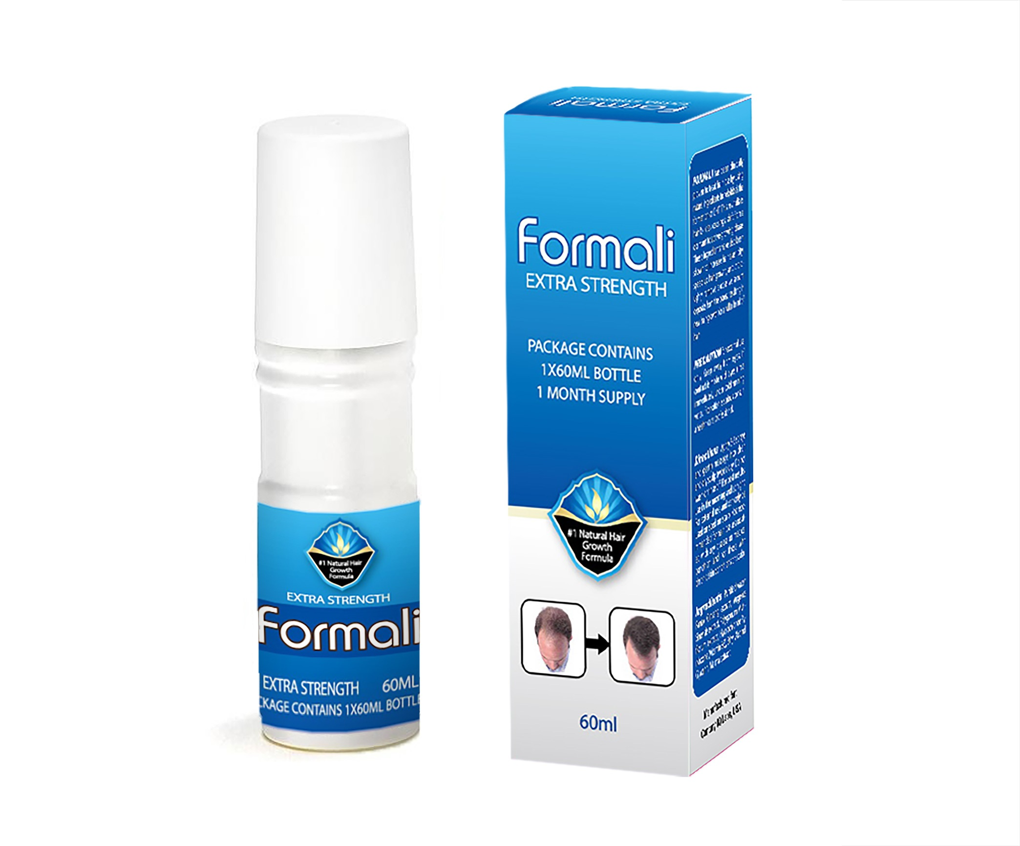 FORMALI Extra Strength #1 Natural Hair Growth Formula  100% Herbal &  Effective Pilatory for Men & Women  Month Supply Treatment for Anti-Hair  Loss
