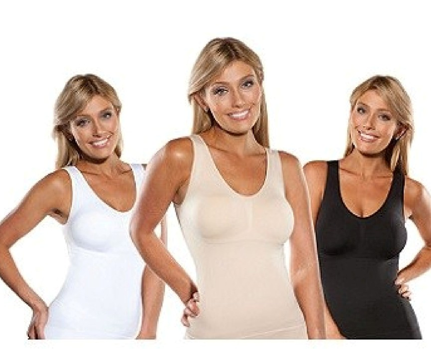 c7185d8313 Cami Body Shaper By Genie Bra ShapeWear Tank Top Slimming Camisole ...